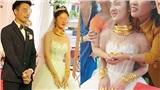 Cô dâu Cao Bằng khóc khóc cười cười trong ngày vui, vàng đeo trĩu cổ, kín cả hai bàn tay?