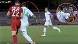 Cận cảnh pha trả đũa trơ trẽn của cầu thủ số 14 Indonesia với cầu thủ Tiến Linh