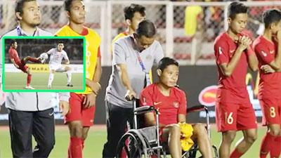 Kết luận chính thức về chấn thương của cầu thủ Indonesia ngồi xe lăn: Không nặng như lời đồn, mất 3 tuần để hồi phục
