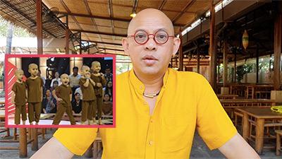 Ông chủ Điền Quân bất ngờ tung clip ủng hộ 5 chú tiểu thi 'Thách thức danh hài': 'Chúng tôi không ngại bất cứ thế lực nào'