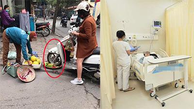 Sau hành động phẫn nộ cán nát rổ hoa quả, chủ shop thời trang đường Nguyễn Đổng Chi nhập viện kiểm tra sức khỏe