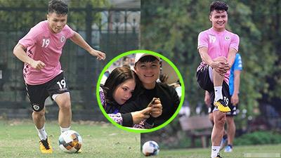 Ồn ào tình ái chưa dứt, Quang Hải đăng ảnh áo hồng cười tươi tập luyện: Đẹp trai nhất vẫn là trên sân cỏ!