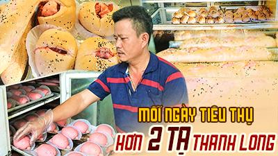 Người đàn ông Bình Thuận giải cứu 14 tạ thanh long bằng công thức làm bánh bí truyền