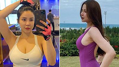 Diệp Lâm Anh khoe vóc dáng gợi cảm với bikini sau hơn 3 tháng sinh con cho chồng thiếu gia