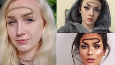 Trend mới kỳ quặc của phái đẹp trên Instagram: Các chị em xê ra để lông mày nhọ nồi 'vô cực' lên ngôi!