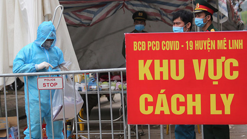 Vừa phát hiện thêm một người dương tính Covid-19 ở thôn Hạ Lôi, huyện Mê Linh
