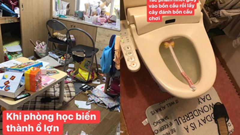 Mẹ trẻ tự mình 'ghét nhà' vì những tác phẩm nhét giấy cho tắc bồn cầu, mang vỏ chuối lên giường bóp nát của các con