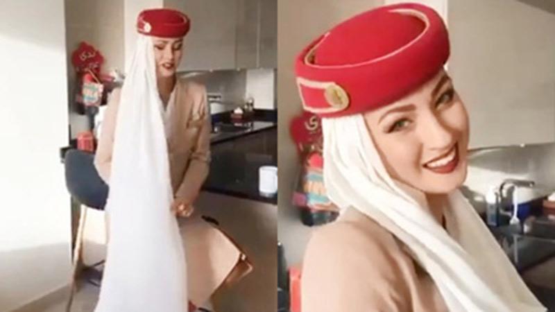 Hé lộ công dụng bí mật đằng sau tấm khăn dải lụa đính trên mũ của bộ đồng phục nữ tiếp viên hàng không đẹp nhất thế giới