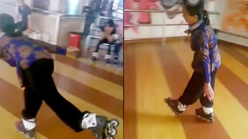 Clip cụ bà U60 ung dung trượt patin bằng một chân như 'múa đường quyền' gây bất ngờ khắp cộng đồng mạng