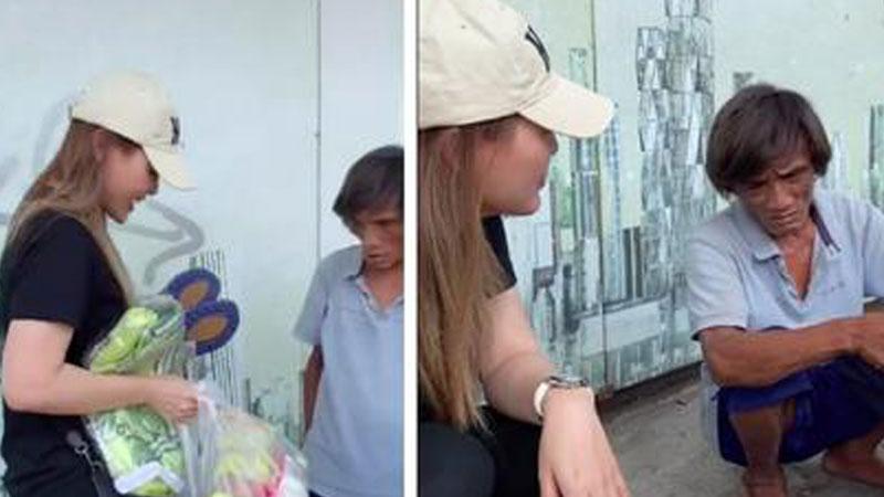 Cô gái xinh đẹp giúp người đàn ông nhặt phế liệu ở Sài Gòn có một ngày như người bình thường, được đi cắt tóc, gội đầu, ăn uống và mua quần áo đẹp