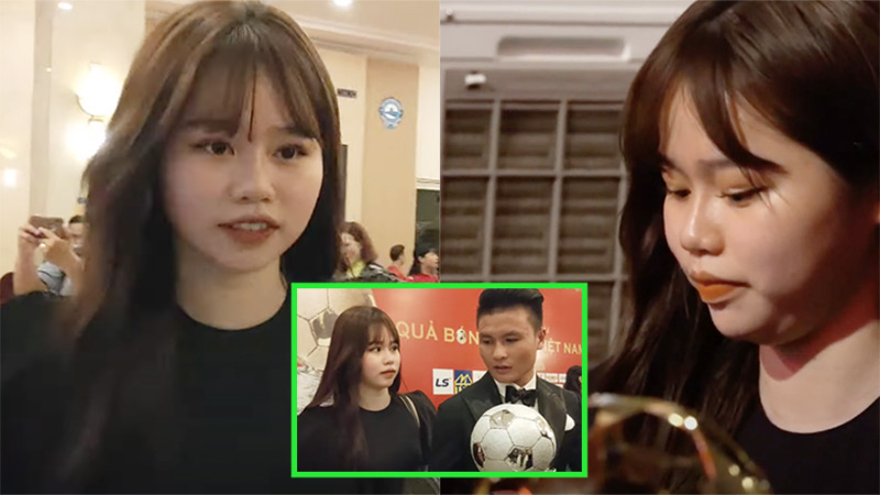 Bất ngờ nhan sắc Huỳnh Anh trong lần đầu tiên 'hộ tống' Quang Hải dự sự kiện lớn