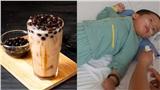 Bé trai 21 tháng tuổi bị bại não do hóc thạch trà sữa trân châu