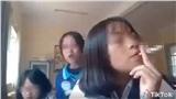 Nữ sinh cấp 2 quay clip hút thuốc ngay trong lớp học, dân mạng lập tức lên án