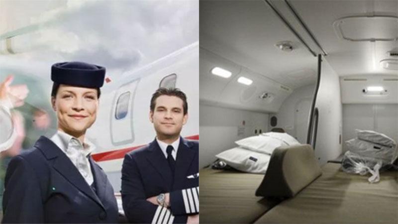 Tiết lộ thú vị về chỗ nghỉ ngơi bí mật của tiếp viên trên máy bay