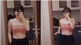 Hậu giảm cân thành công, bạn gái Quang Hải khoe đồ cũ rộng thùng thình
