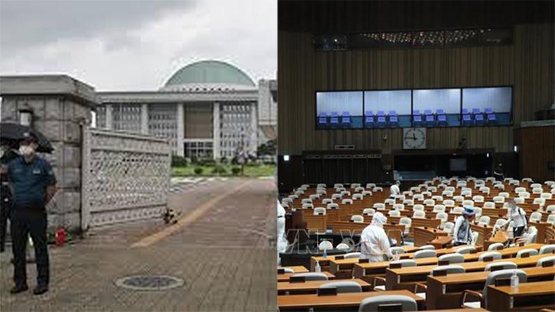 Phóng viên mắc Covid-19 từng đến tác nghiệp, tòa nhà Quốc hội Hàn Quốc lập tức đóng cửa, toàn bộ hoạt động phải hủy bỏ