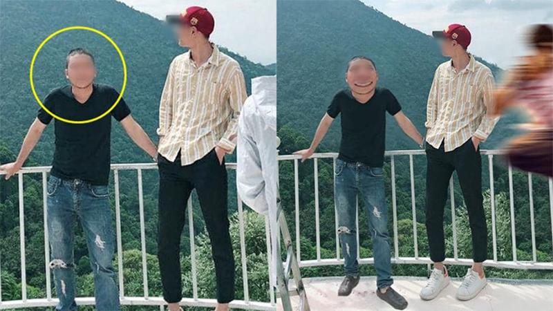 Chàng trai 'dại dột' gửi ảnh nhờ các thánh photoshop xóa giúp người lạ, kết quả bị 'đá bay' khỏi lan can khá phũ phàng