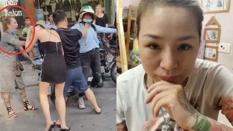 Người phụ nữ xăm hình chứng kiến vụ đánh ghen Lexus ở phố Lý Nam Đế: 'Thấy cô vợ bị bóp cổ, tôi rất bức xúc'