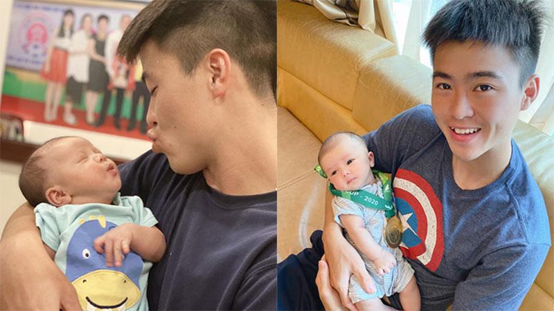 Mới hơn 1 tháng tuổi đã được ông bố trẻ Duy Mạnh 'trao' huy chương vàng, cậu nhỏ Duy Minh được cộng đồng mạng khen nức nở