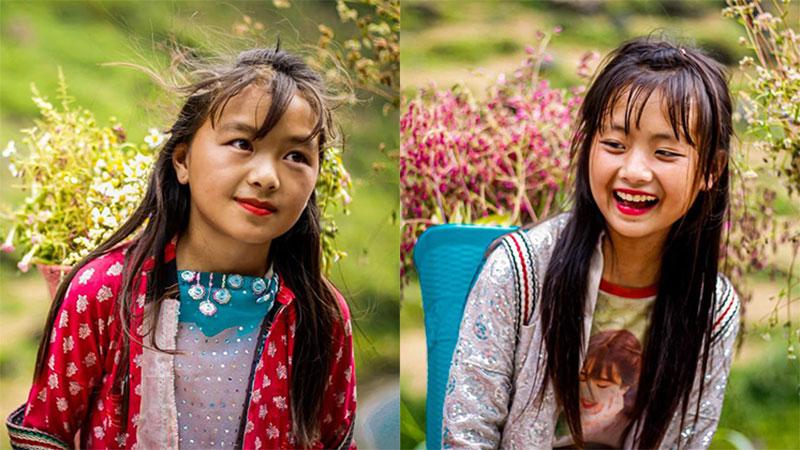 Tranh cãi nảy lửa quanh hình ảnh những em bé Hà Giang make-up môi đỏ má hồng hút khách du lịch