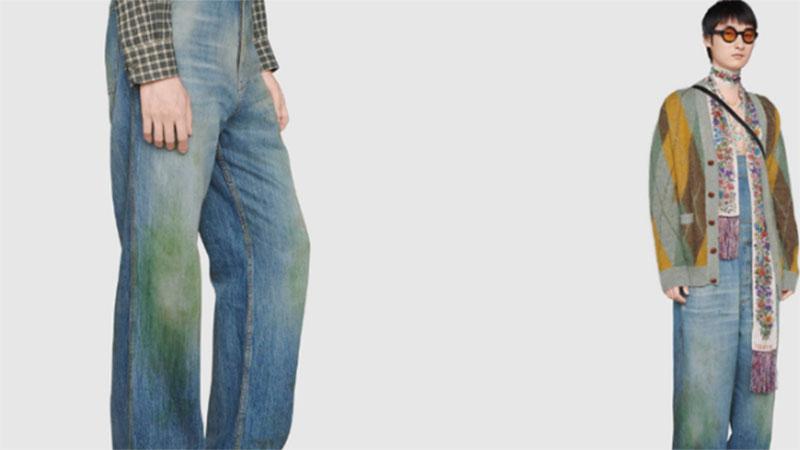 Dân mạng tròn mắt ngắm chiếc quần jean hàng hiệu giá 18 triệu đồng/chiếc: Nhìn như bị bôi bẩn