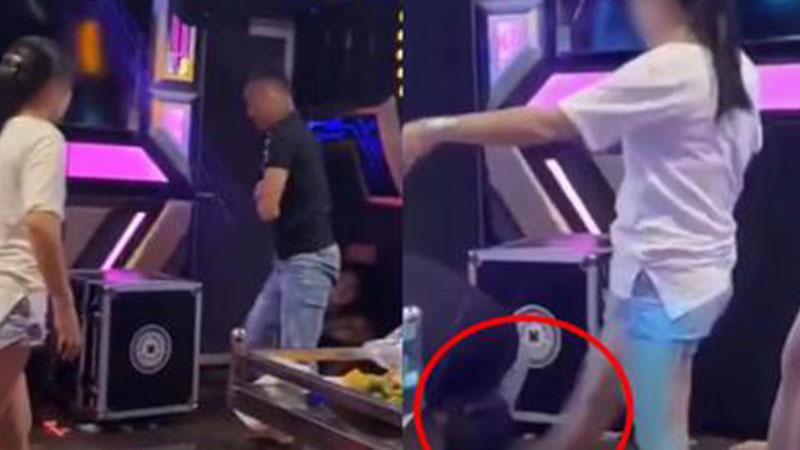 Cô vợ dũng mãnh và cú đạp 'chí mạng' trong phòng karaoke khiến MXH rần rần hưởng ứng: Chồng tái mét mặt quỳ xuống xin tha