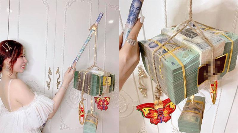 Cô gái Sài Gòn thích thú khoe chiếc lồng đèn 3,5 tỷ đồng: 'Cầm nặng muốn trật khớp tay'