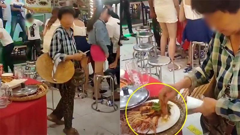 Hình ảnh xúc động nhất đêm Trung thu: Người mẹ nghèo bán vé số đi ngang bữa tiệc, thấy đĩa tôm thừa chỉ xin một ít mang về cho con