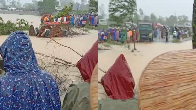 Đang nỗ lực tìm kiếm người phụ nữ đi đẻ bị nước lũ cuốn trôi tại Thừa Thiên Huế