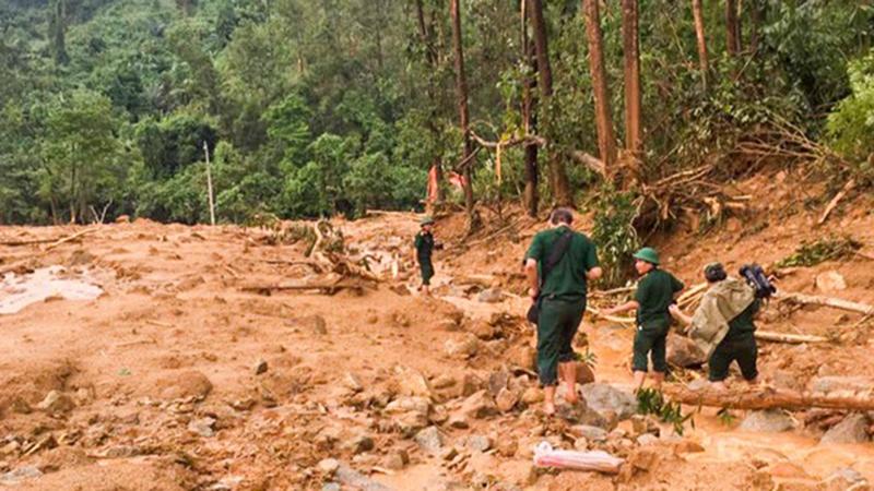 Ảnh: Cảnh tan hoang nơi đoàn cứu hộ thuỷ điện Rào Trăng 3 gặp nạn