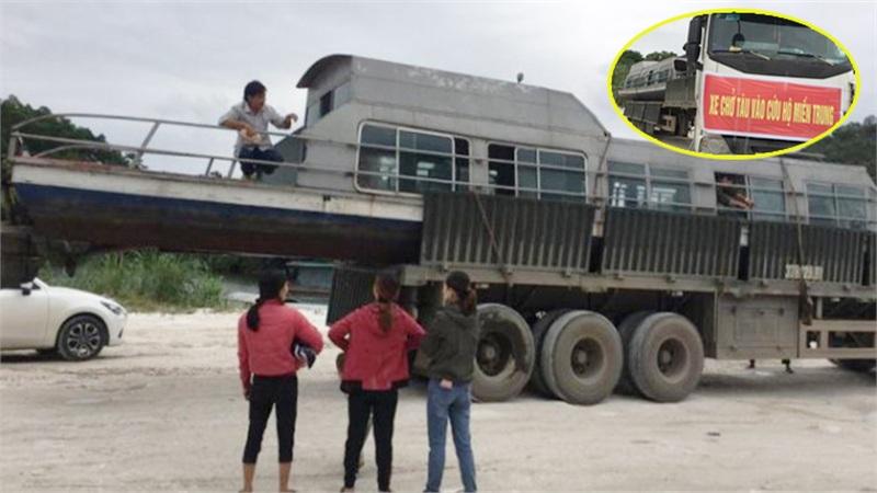 Người đàn ông đưa tàu thủy 3,5 tấn vào giúp bà con miền Trung: 'Tôi ở lại đến hết lũ thì về'