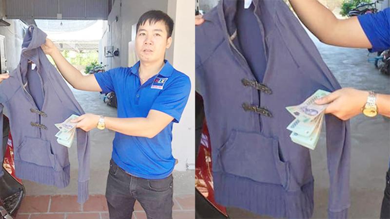 Hy hữu: Phát hiện 8 triệu đồng gấp gọn trong túi áo khoác cũ ủng hộ người dân miền Trung