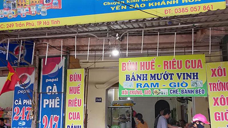 Quán bún ở Hà Tĩnh bị xử phạt 750 ngàn đồng vì 'chặt chém' đoàn từ thiện cứu trợ miền Trung