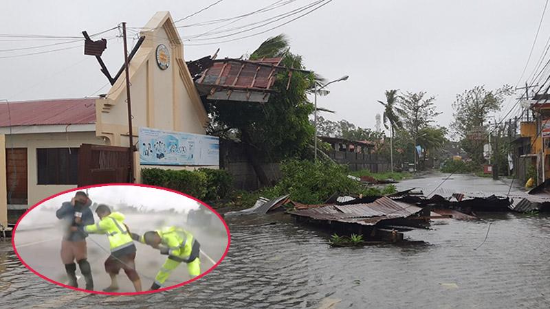 Hình ảnh cơn bão số 9 càn quét Philippines với sức gió mạnh dữ dội: Đã có những thiệt hại đầu tiên