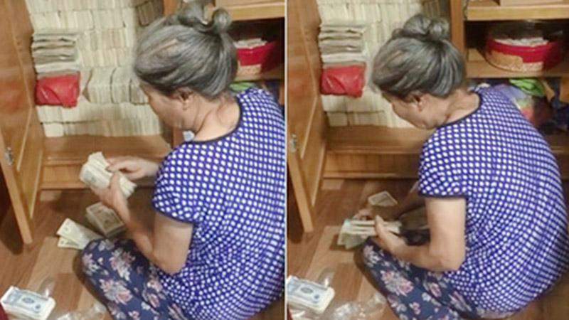 Trầm trồ với chiếc tủ đựng cả trăm xấp tiền lẻ của bà cụ, thành quả tích góp đáng kinh ngạc không phải ai cũng làm được