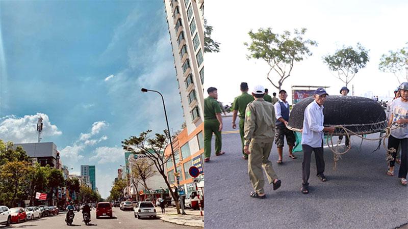 Trước bão số 9: Trời Đà Nẵng trong xanh, người dân không chủ quan, khẩn trương chằng chống nhà cửa