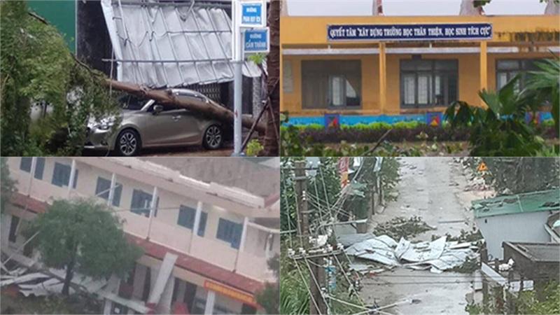 [CẬP NHẬT] Bão số 9 vừa đổ bộ, gió mạnh dữ dội khiến nhiều nơi tan hoang, đã có 9 người thương vong