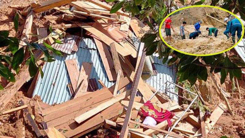 Đau xót 1 trẻ sơ sinh cùng 3 người thân qua đời vì sạt lở ở Quảng Nam: An táng tập thể theo hộ gia đình