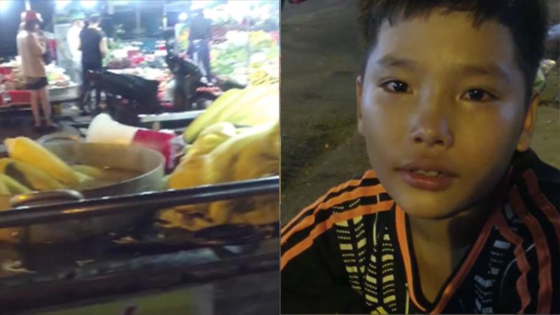 Nghe tin được nhiều người giúp đỡ đến trường, cậu bé bán bắp bật khóc: 'Con thích đi học lắm, con hứa sẽ cố gắng học giỏi'