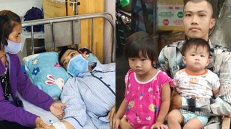 Người cha 27 tuổi đối diện cái chết vì ung thư máu và nỗi sợ bỏ 2 con gái nhỏ bơ vơ trong túp lều tồi tàn