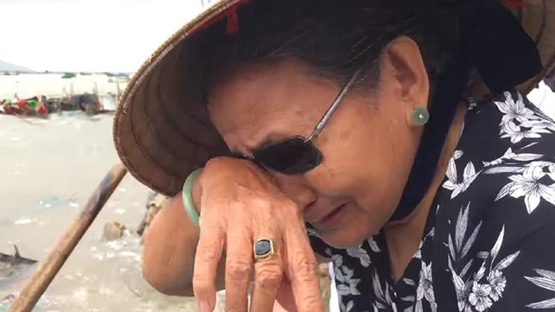 Sự thật đằng sau bức ảnh cụ bà đeo nhẫn bật khóc bên vựa tôm hùm chết hàng loạt sau lũ