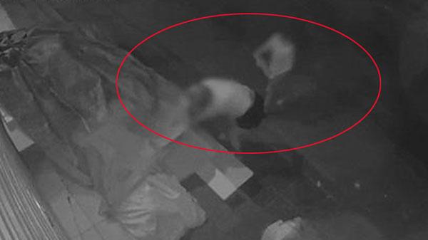 Clip bức xúc: Người phụ nữ dắt theo con nhỏ đi ăn trộm hoa quả lúc nửa đêm, thấy 'bở' liền mang cả xô ra đựng cho 'năng suất'