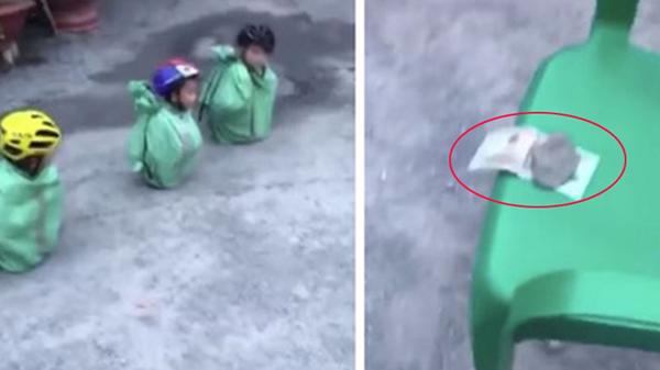 Clip gây bức xúc: Trẻ bị buộc vào bao tải, lăn lê trên mặt đất để giành 500k, người lớn vây quanh cười vui sướng