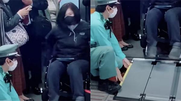 Hành động nhỏ của nhân viên tàu điện ngầm dành cho người khuyết tật, khiến ai nhìn cũng phải thán phục vì sự tử tế và chuyên nghiệp