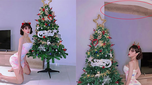 Đăng ảnh đón Giáng sinh sớm, Trần Đức Bo khoe 3 vòng cong cớn lập tức bị vạch trần 'sống sai sự thật'