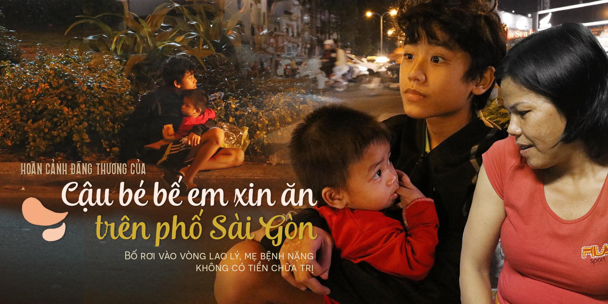 Hoàn cảnh đáng thương của cậu bé 12 tuổi bế em ăn xin trên phố Sài Gòn