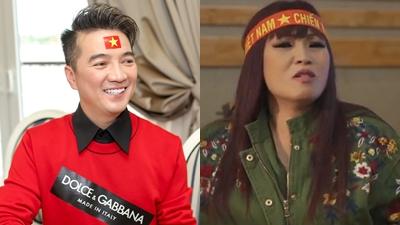 Mr Đàm, Phương Thanh cùng dàn sao Việt hát vang ca khúc cổvũ U23 Việt Nam