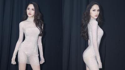 Diện váy bó sát diễn 'bốc lửa', Hương Giang lọt top 15 phần thi tài năng