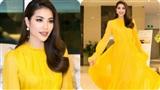'Chói mắt' khi nhìn Phạm Hương với váy dạ hội vàng rực tại sự kiện
