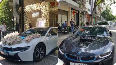 Cận cảnh dàn siêu xe đón dâu trong đám cưới Diệp Lâm Anh và bạn trai thiếu gia